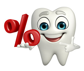 Teeth character with Percentage
