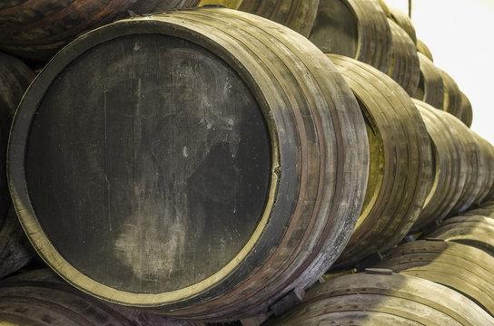 Old wine or whisky barrels