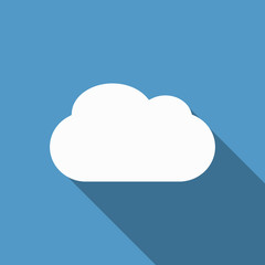 cloud icon with long shadow