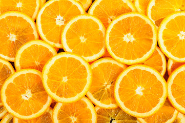 Orange slices for background, texture