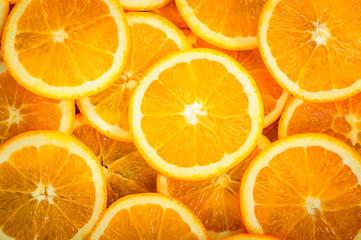 Orange slices for background, texture