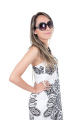 young latin girl in summer look
