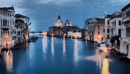 Oil painting style image of Grand canal