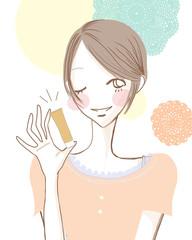 美容を教える女性/ボーイッシュ