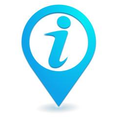 informations sur symbole localisation bleu