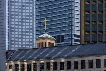Kirche in der Stadt Glauben
