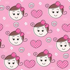 baby girl pattern vector illustration