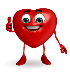 Heart Shape character with thumbs up pose