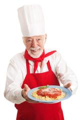 Italian Chef Isolated