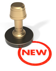 "Rubber Stamp ""NEW"""
