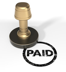 "Rubber stamp ""PAID"""