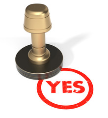 "Rubber Stamp ""YES"""
