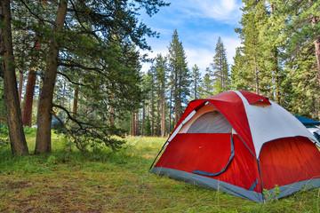 Foto op Plexiglas Kamperen Camping