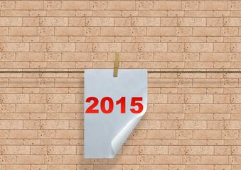 2015 em folha de papel
