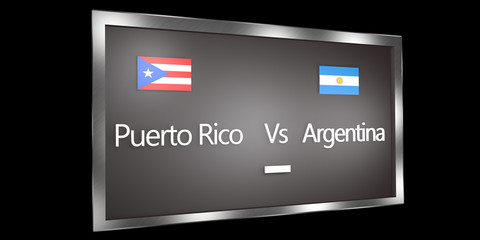 Competition Scoreboard.World Cup.Group B Puerto Rico Argentina