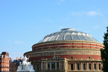 Albert hall viewed from memorial