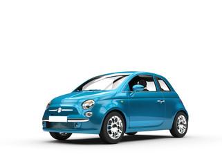 Small blue metallic car
