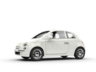 Small economic white car