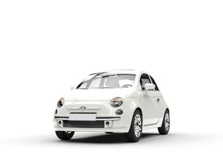 Small economic white car front
