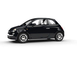 Small black economic car