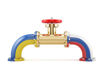 Ukrainian and Russian gas valve