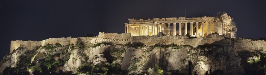 Acropolis of Athens.Night shot.Panorama. Fototapete