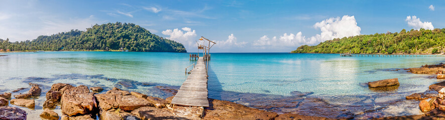 Tropical sea panorama