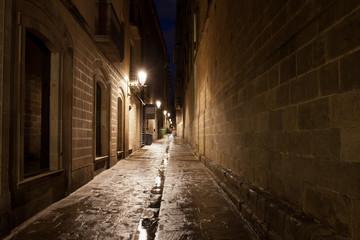 Canvas Prints Narrow alley Gothic Quarter of Barcelona