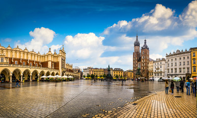 Tuinposter Krakau Krakow - Poland's historic center, a city with ancient