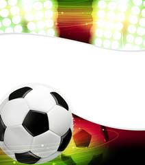 Spotlights and a soccer ball