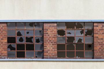 alte kaputte Fenster Glas
