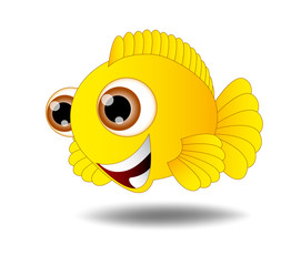 Image result for cartoon yellow fish