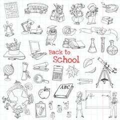 Back to School Doodles - Hand-Drawn Vector Illustration