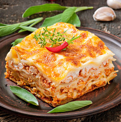 Classic Lasagna with bolognese sauce