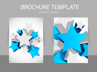 Flyer template with star