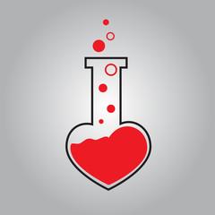 tube heart vector icon