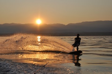 sunset wakeboard Wall mural