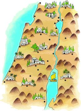 Mpa de Palestina en la época del antiguo testamento