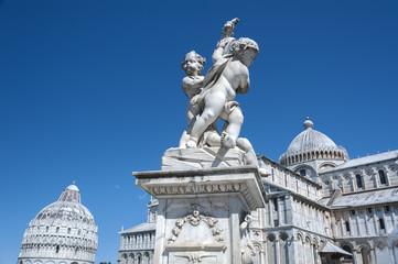 Fototapete - Statue in Pisa in Tuscany, Italy
