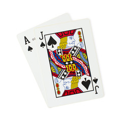 Blackjack playing cards