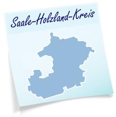 Saale-Holzland-Kreis als Notizzettel