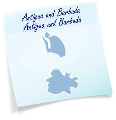 Antigua-Barbuda als Notizzettel