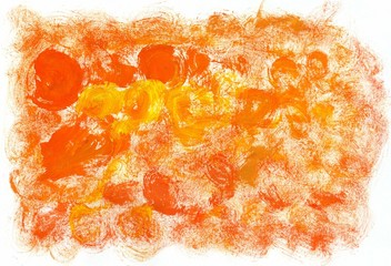 Orange Yellow Gouache