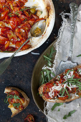 cherry tomatoes baked with italian bruschetta