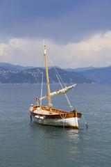 Small wooden sail ship