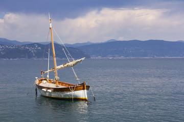 Old wooden sail ship
