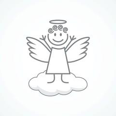 Angel wings on a cloud