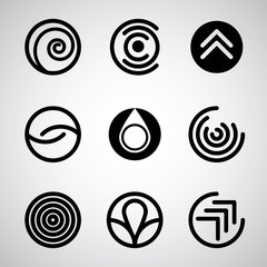 Abstract symbols vector set.