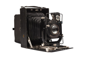 Old middle format film camera
