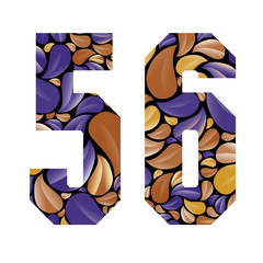 Beautiful floral numbers 5 and 6.
